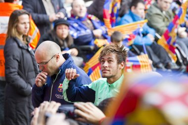 Neymar at FC Barcelona training session