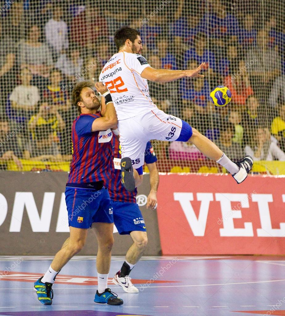 8f01cab0eaf Handball match FC Barcelona vs Montpellier – Stock Editorial Photo ...