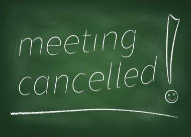 Meeting cancelled on blackboard