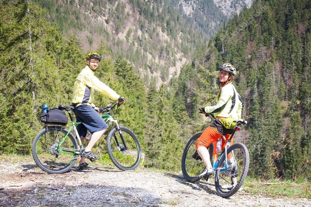 Friends on a bike