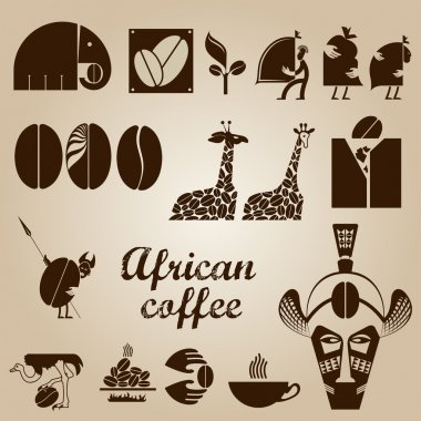 African coffee design set