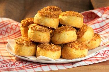 Traditonal hungarian cheese cakes - pogácsa