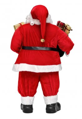 Funny Santa Claus doll with presents back view