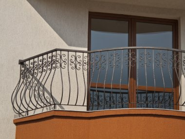 Balcony railing of iron