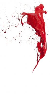 splashes of red paint isolated on white background
