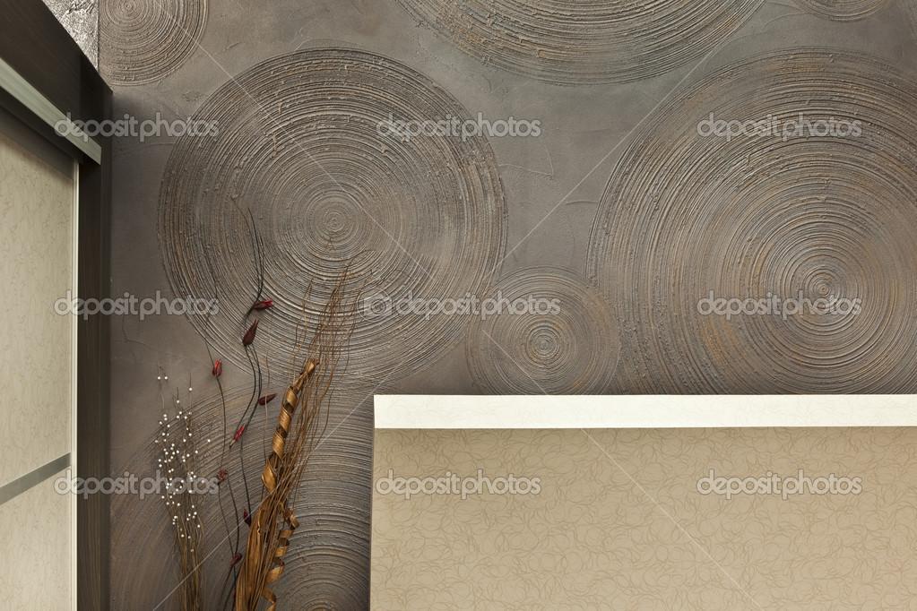 Detal ściany Wewnętrzne Tynki Dekoracyjne Zdjęcie Stockowe