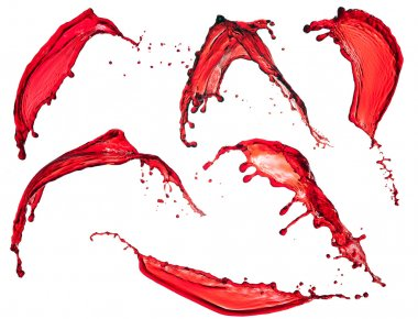 red liquid splash isolated on white background