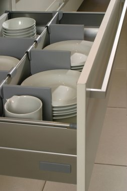 drawer in a modern kitchen
