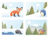 Fényképek Absztrakt állati Karácsonyi kártyák