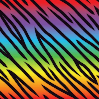 Rainbow Tiger Pattern