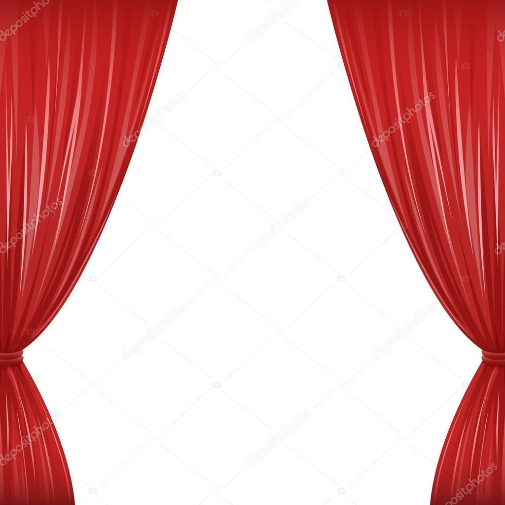 rode gordijnen — Stockvector © AvelKrieg #36796555
