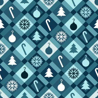 Blue Christmas Quilt Background
