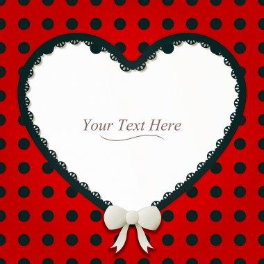 Heart-Shaped Ladybug Frame