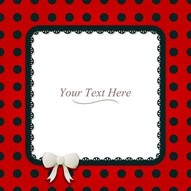Square Ladybug Frame