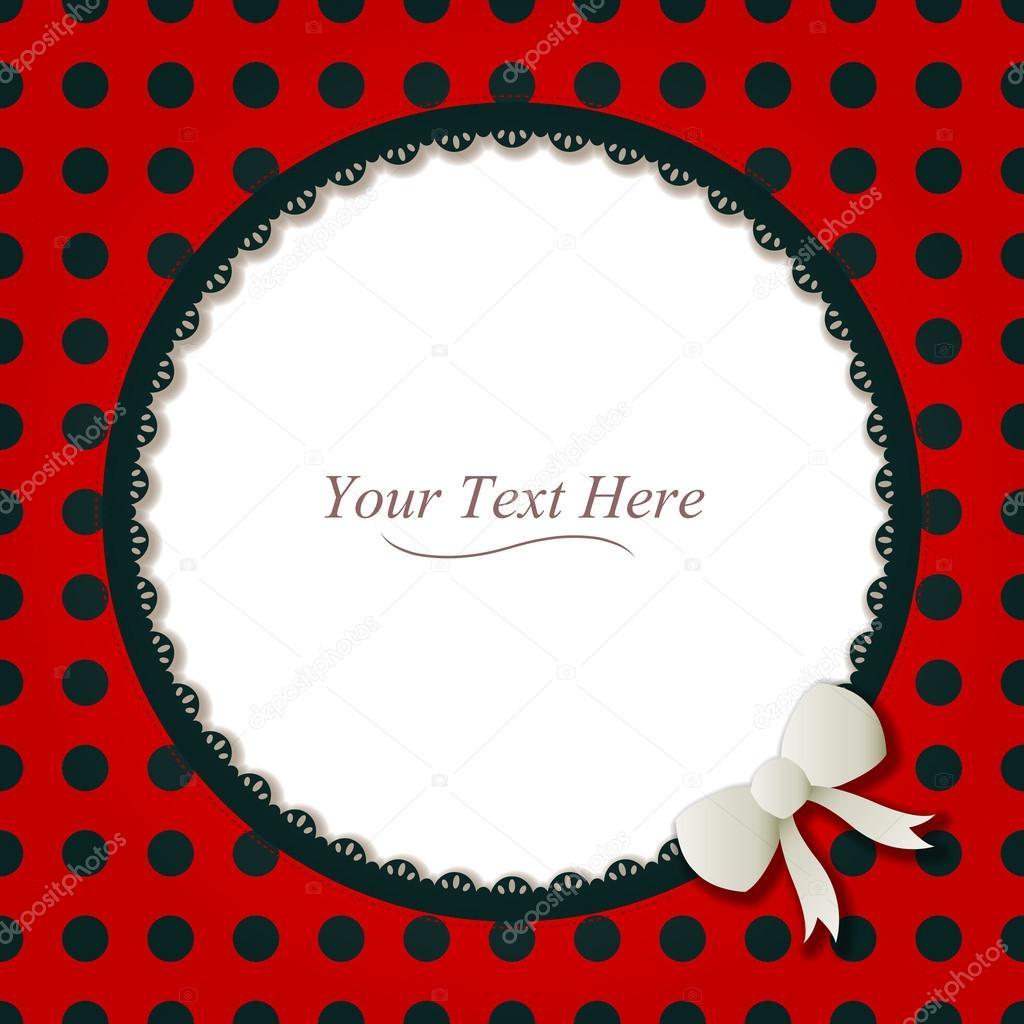 Round Ladybug Frame — Stock Vector © AvelKrieg #43008885