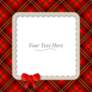 Plaid Square Frame