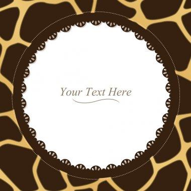 Round Giraffe Print Frame