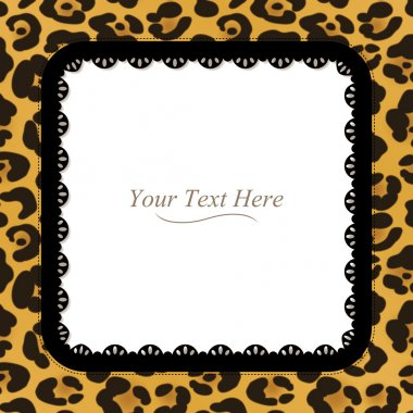 Square Leopard Print Frame