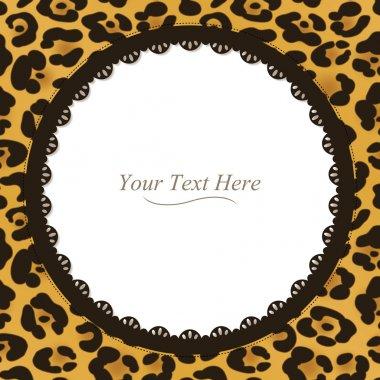 Round Leopard Print Frame