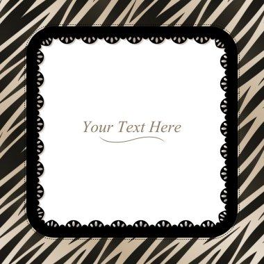 Square Zebra Print Frame