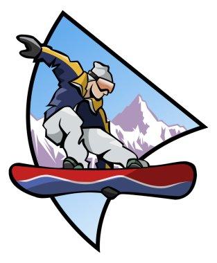 Snowboard logo - Colors