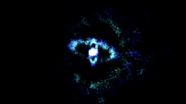 Abstract Rotating Rings - Loop Blue