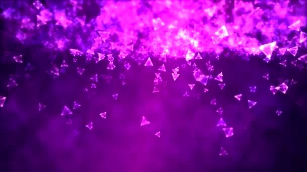 absztrakt háromszög háttérben animáció - loop