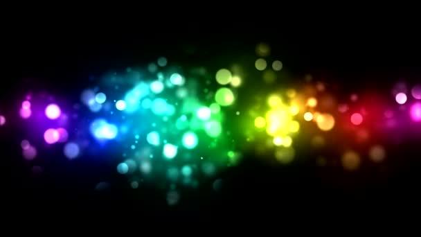 abstraktní pozadí částic - smyčka