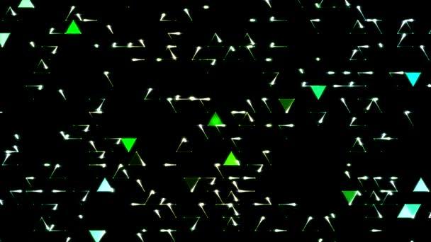 barevný trojúhelník pozadí animace