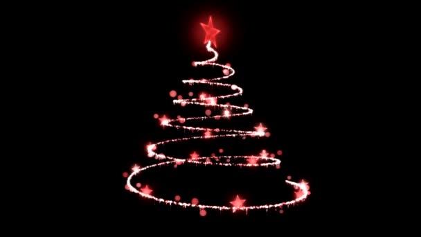 karácsonyfa illusztráció - forgó hurok
