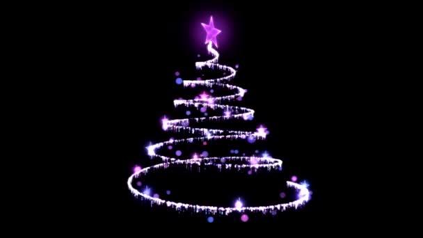 Rotating Christmas Tree Illustration - Loop