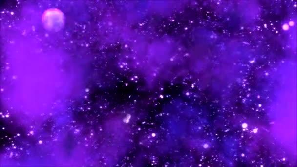 cestování vesmírem prostřednictvím hvězdného pole a mlhovina - fialová smyčka