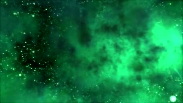 cestování vesmírem prostřednictvím hvězdného pole a mlhovina - zelená smyčka