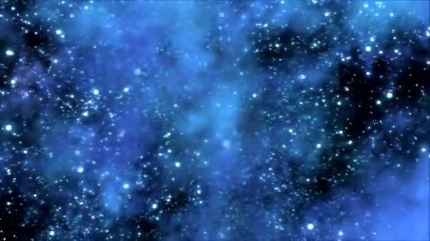 cestování vesmírem prostřednictvím hvězdného pole a mlhovina - smyčka modrá
