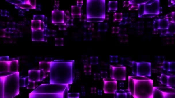 Mozgó blokk - loop-lila absztrakt