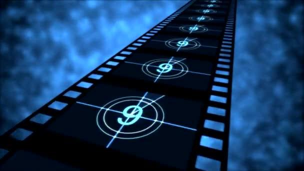 film visszaszámlálás animáció - hurok kék