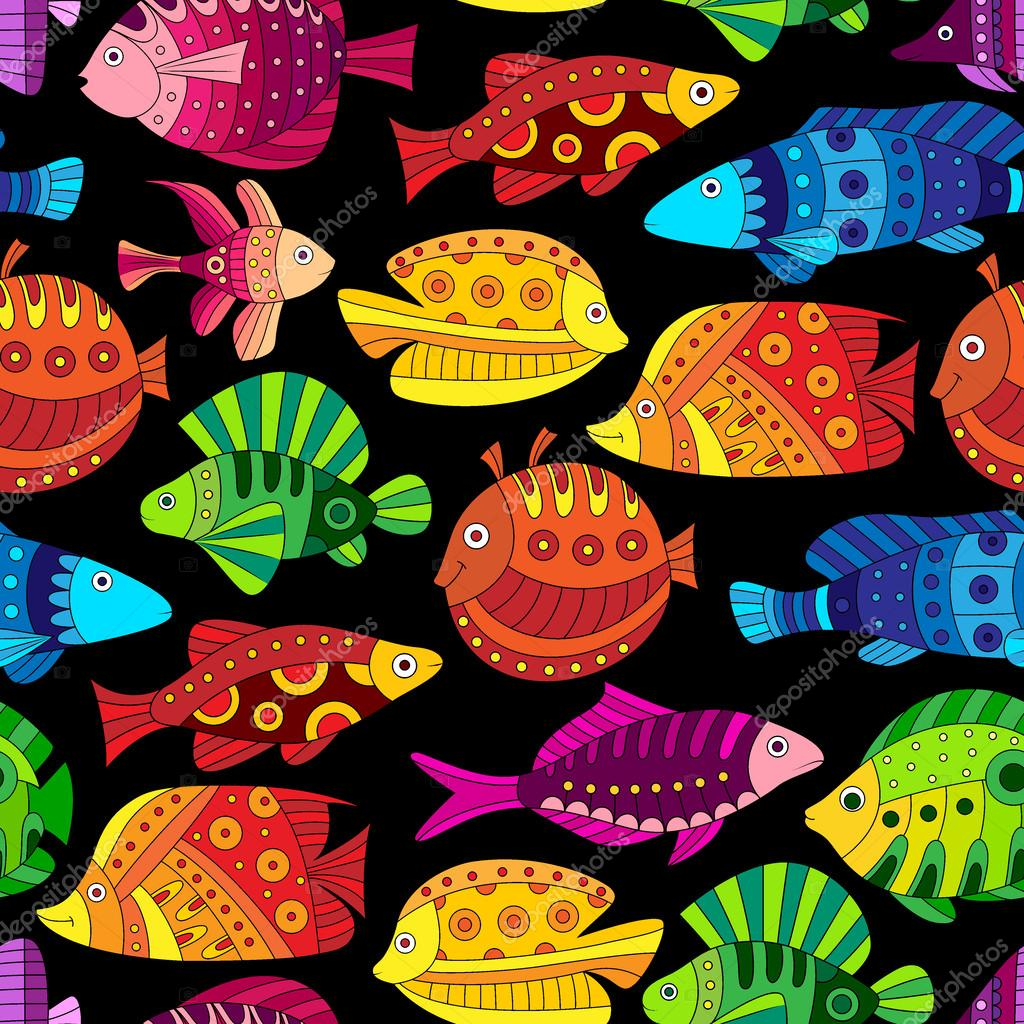Seamless pattern with colorful tropical fish — Stock Vector ...
