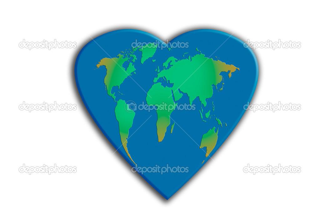 World map heart shaped stock photo luislouro 23537669 world map heart shaped stock photo gumiabroncs Gallery