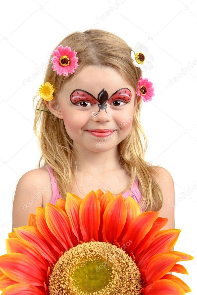 Yüz Boyama Uğur Böceği Stok Foto Luislouro 28564991