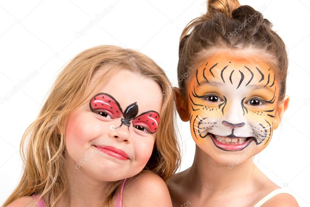 Face Painting Of A Tiger Face Painting Tiger And Ladybug