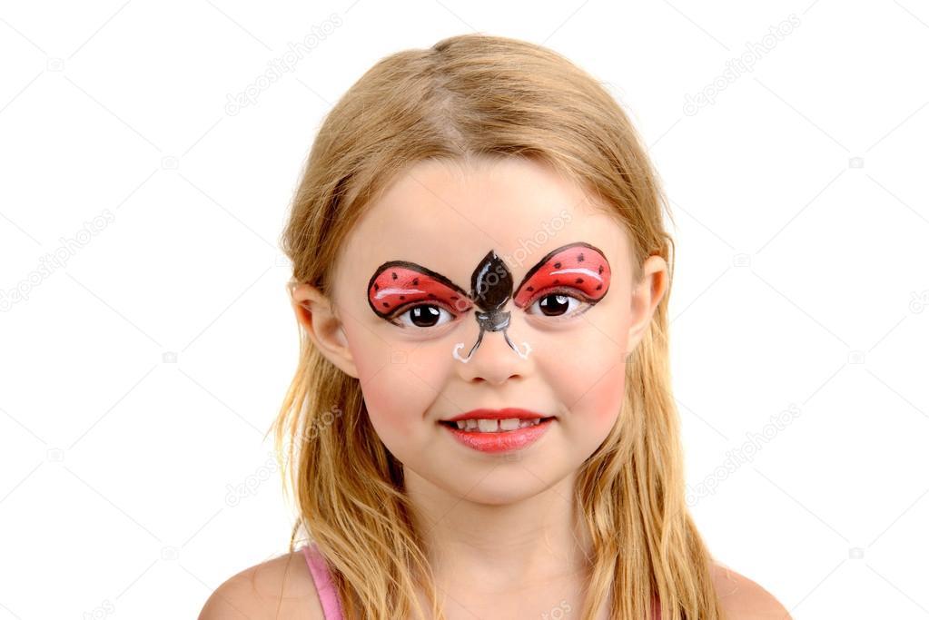 Yüz Boyama Uğur Böceği Stok Foto Luislouro 34794991