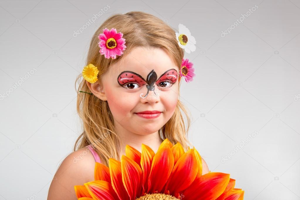 Face Painting Ladybug Stock Photo C Luislouro 36631243