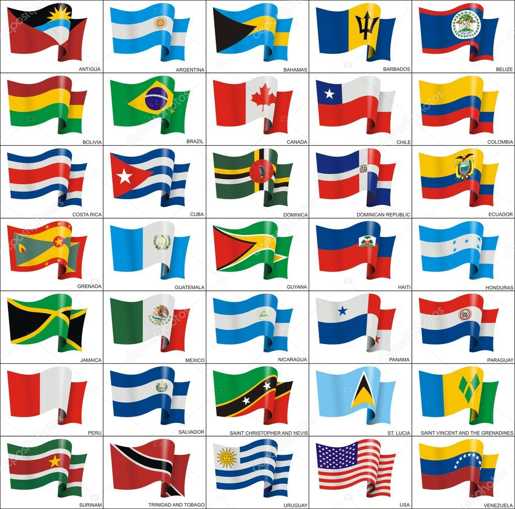 Flags of North and South America