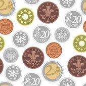 Barevné pozadí s obrázkem mincí