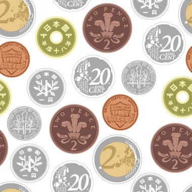 Colorful background with an image of coins