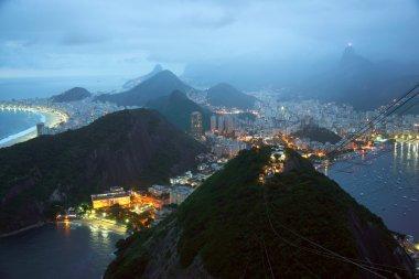Rio de Janeiro by night, Brazil