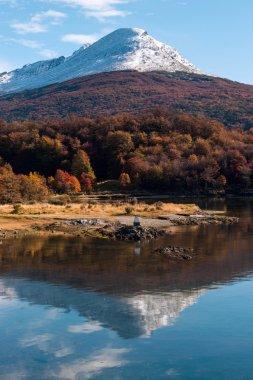 Autumn in Patagonia. Cordillera Darwin, Tierra del Fuego