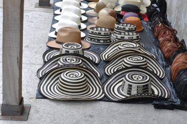 Sombreros Volteados - Typical Colombian Hats on the marketplace,