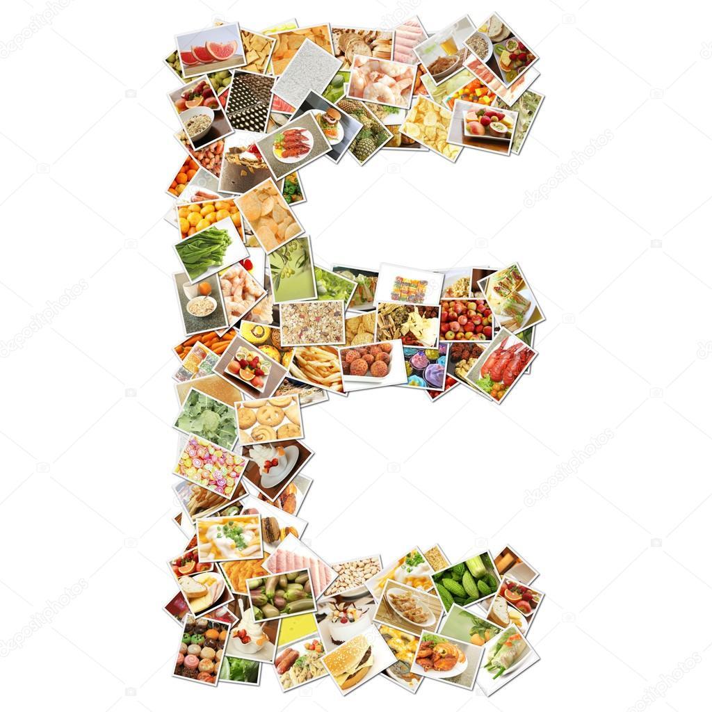 Mat på bokstaven e