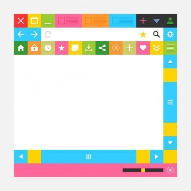 Web browser window with additional buttons
